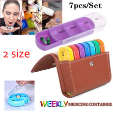 Box, portablepillcase, pillbox, weeklymedicinecontainer