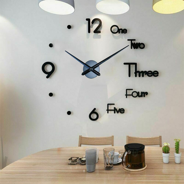Home Decor, Stickers, Modern, decorquartzclock