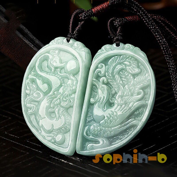 jadeite pendant C018 Details about  /Chinese jade jade,phoenix/&flowers collection,unearthed