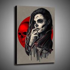 decoration, canvasprint, Wall Art, skull