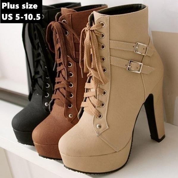 ankle boots, platformboot, Shorts, heelsforwomen
