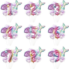 mermaidparty, foilballoon, mermaidbirthdayparty, Balloon