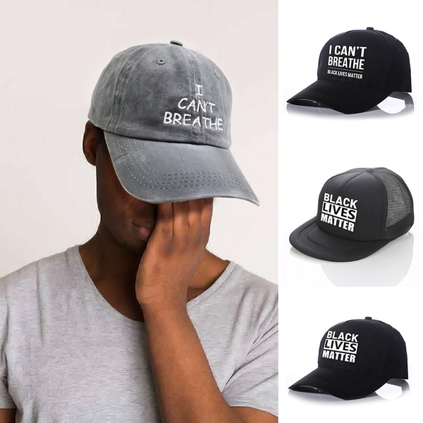Justice George Floyd I Can/'t Breathe Protest Black Lives Matter Baseball Cap Hat