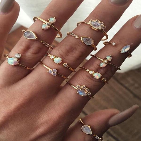 Fashion, crystal ring, Women Ring, Women's Fashion
