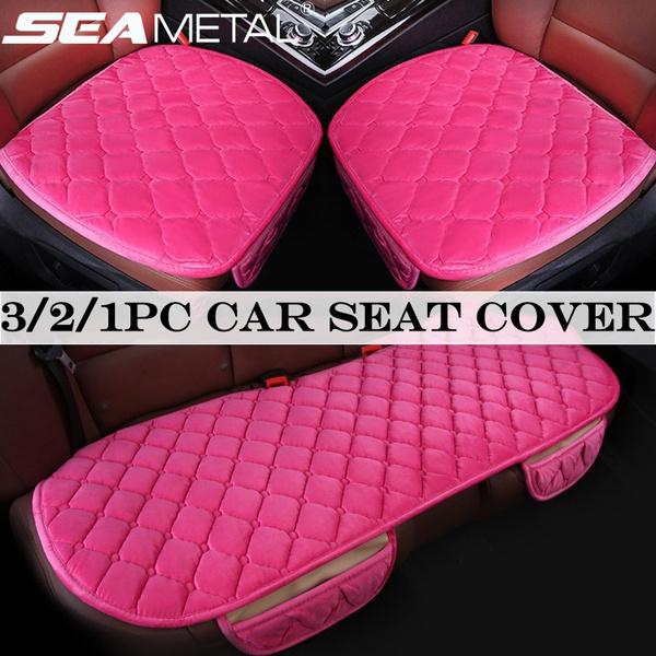 Ecloud Shop Comfortable Car Seat Cushion Pad Four Seasons Universal Car Driver Interior Seat Cover Mat Pads for Automotive Vehicle Supplies Black 2pcs