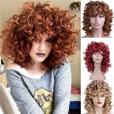 wig, afrokinkycurlywig, Fiber, fashion wig