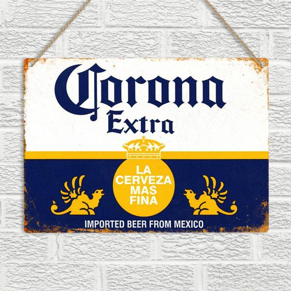 Corona Extra Beer Logo Retro Wall Art Decor Bar Man Cave Large Metal Sign New