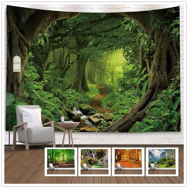 Decor, foresttapestry, Nature, hangingtapestry