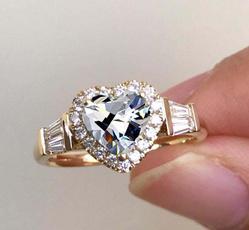 glamorous, Heart, DIAMOND, 925 sterling silver