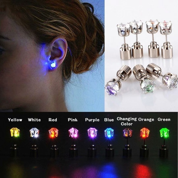 Bling, led, Jewelry, Stud Earring