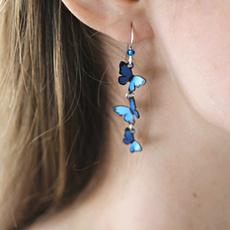 butterfly, Sterling, earrings jewelry, butterfly earrings