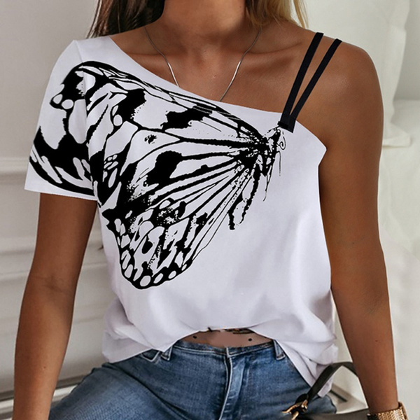 blouse, butterfly, Plus Size, crop top