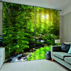 chinesecurtain, Nature, Modern, blackoutcurtain