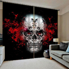 Design, chinesecurtain, skull, bedroom