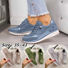 Sneakers, sequinsneaker, zippers, Running Shoes