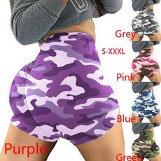 Plus Size, Fitness, Women's Tights, printedshort