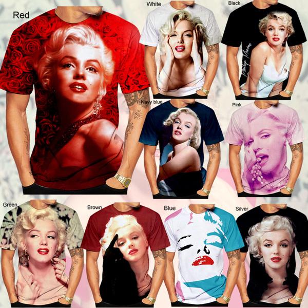 pearls, Fashion, 3D T-shirt, marilynmonroepearlmens3dtshirt