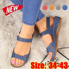 Summer, Plus Size, Women Sandals, Vintage