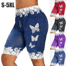 butterflyprint, capripant, Plus Size, butterfly