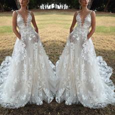 sleeveless, bridedre, Necks, Evening Dress