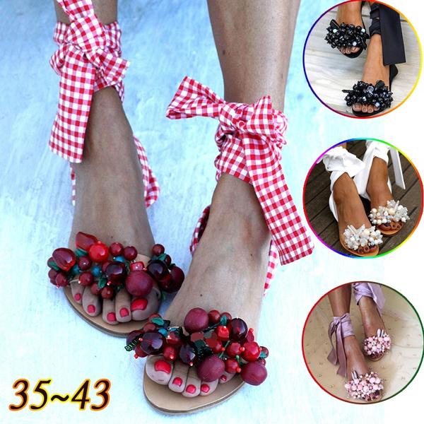 Summer, Sandals, beadshoe, cute