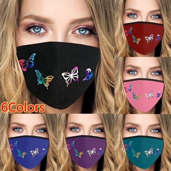 butterflyprint, Women, mouthmask, Cycling
