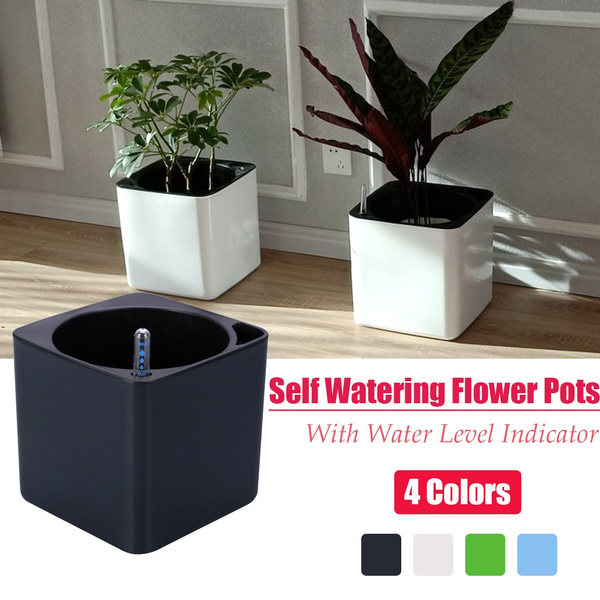 Modern Self Watering Garden Supplies Decorative With Water Level Indicator Plant Container Flower Pots Basket Planter Wish