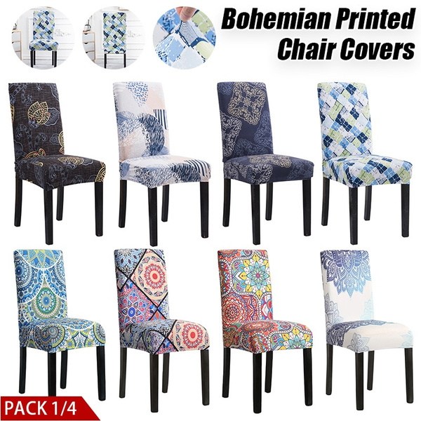 chaircoversdiningroom, bohemianprinted, chaircover, Spandex