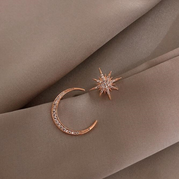 earringsforwoman, Fashion, starmoonearring, Gifts