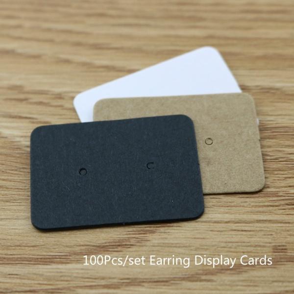 earringdisplaycard, jewelryholdersorganizer, kraft, Jewelry
