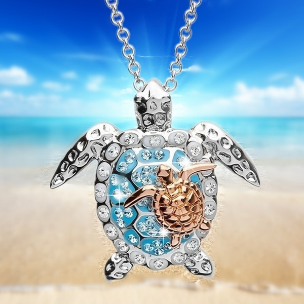 Turtle, Sterling, Necklace, Gifts