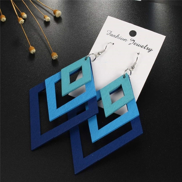 Fashion, Jewelry, Wooden, Creative earrings