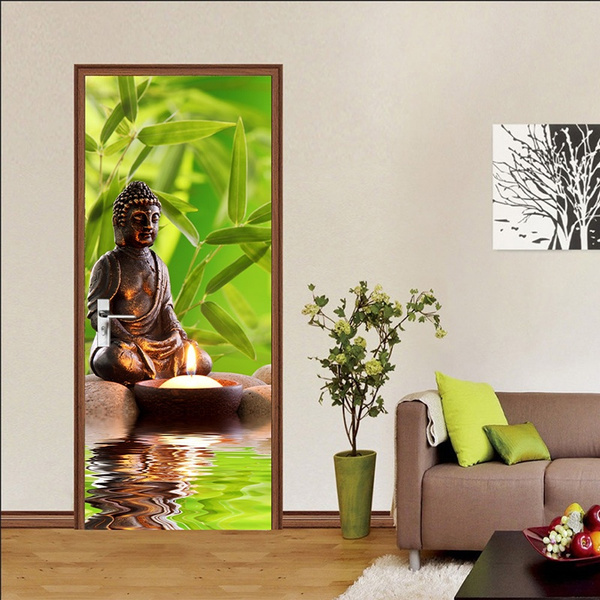 removablewaterproofdoordecal, Wall Art, Home & Kitchen, selfadhesivepvc