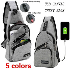Outdoor, Capacity, usb, Casual bag