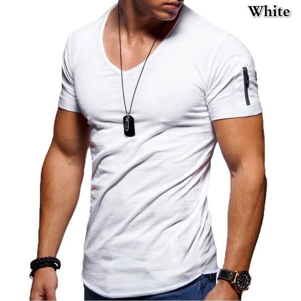 Summer, camisamasculina, Plus Size, Slim T-shirt