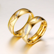 Couple Rings, DIAMOND, wedding ring, gold