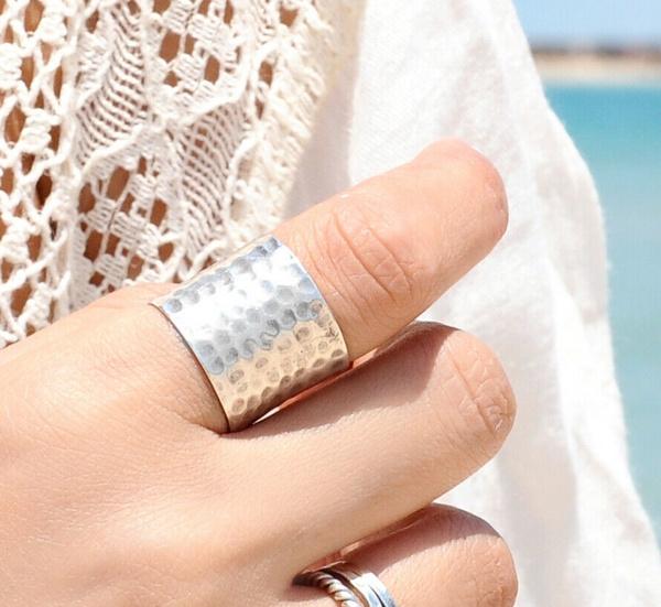 Sterling, men_rings, Silver Jewelry, Wool