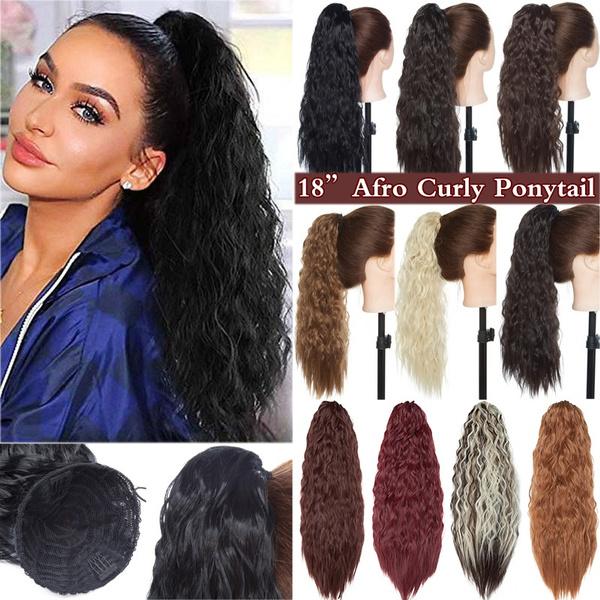 ponytailextension, curlyhairpiece, cornwavahir, Hair Extensions