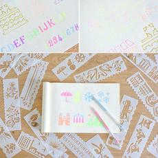 numberstencil, stencilart, stencil, art
