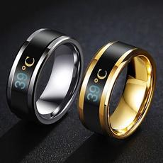 Steel, wedding ring, Waterproof, Stainless steel ring