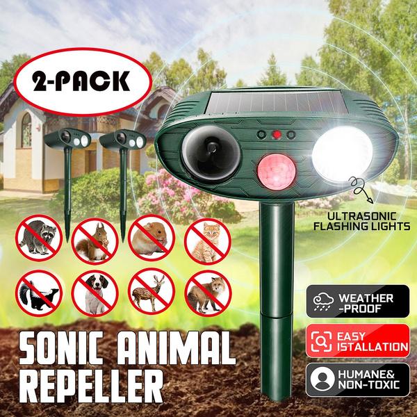 Outdoor Solar Ultrasonic PIR Pest Animal Repeller Garden Cat Dog PIR Repellent