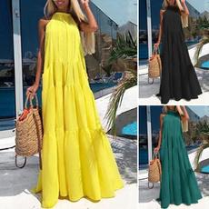 Swing dress, Plus Size, halter dress, Halter