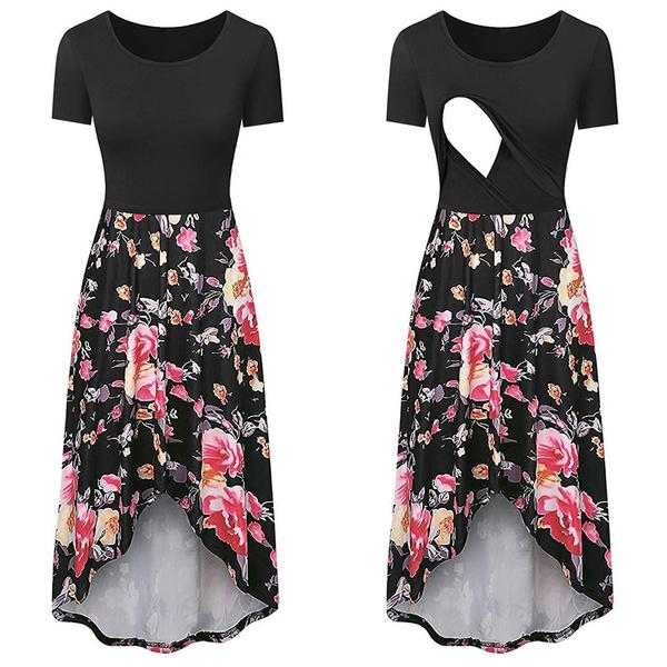 Summer, short sleeve dress, pregnantdres, Dress