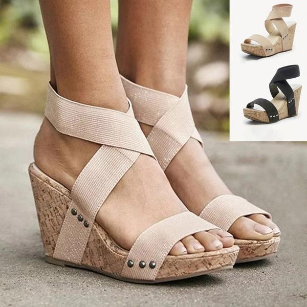 wedge, Plus Size, Platform Shoes, beach shoes