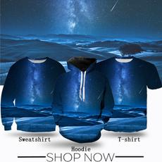 Blues, starrysky, Shirt, dark blue