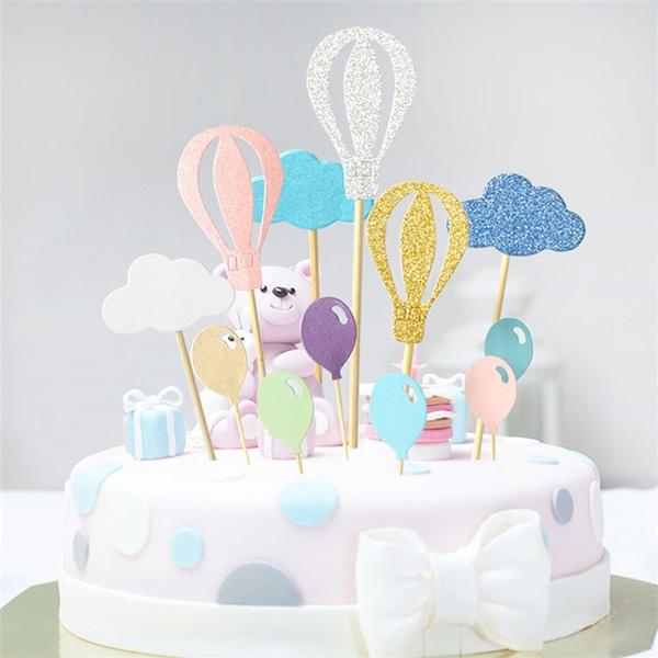 rainbow, Dessert, Balloon, cupcake