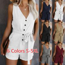 sleeve v-neck, Women Rompers, Plus Size, Fashion