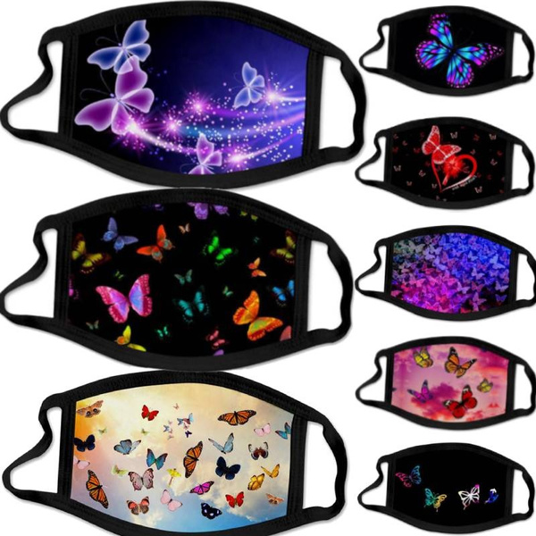 butterfly, Fashion, mouthmask, Outdoor Sports