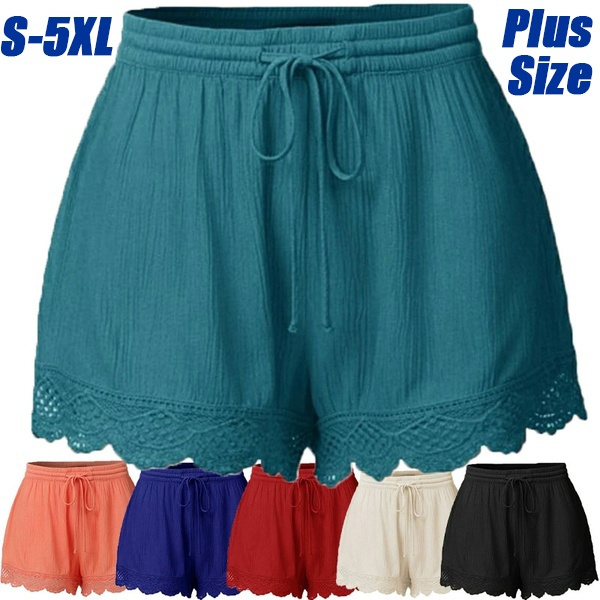Summer, Plus Size, Bottom, pants