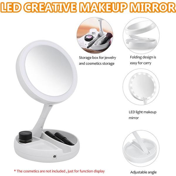 Led Lighted Makeup Mirror Vanity Pocket, Led Makeup Mirror Vanity